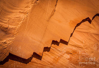 Jagged Photograph - Zigzag Sandstone by Inge Johnsson
