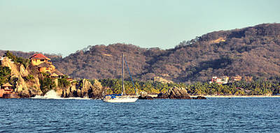 Photograph - Zihuatanejo Bay by Jim Walls PhotoArtist