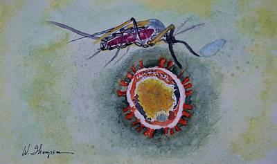 Zika Virus Art Print by Warren Thompson
