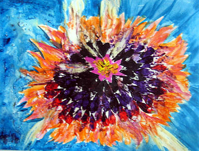 Painting - Zinnea Aflame by Sarah Hornsby
