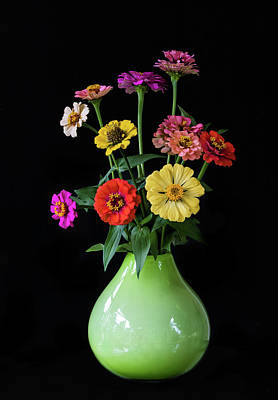 Photograph - Zinnia Bouquet by Angie Vogel