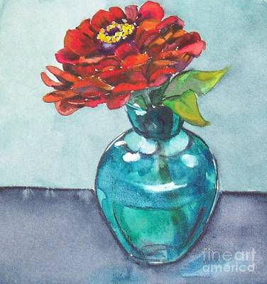 Painting - Zinnia by Jane Loveall