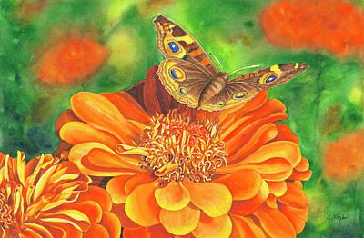 Painting - Zinnia Runway by Lori Taylor