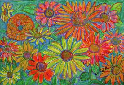 Drawing - Zinnia Spin by Kendall Kessler