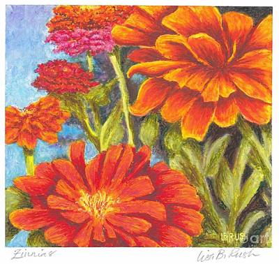 Pastel - Zinnias by Lisa Bliss Rush