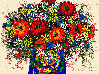 Painting - Zinnias by Natalie Holland