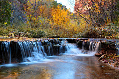 Kids Alphabet - Zion Autumn foliage waterfall by Pierre Leclerc Photography