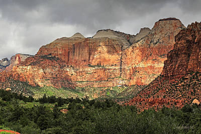 Photograph - Zion Canyon by Donna Kennedy