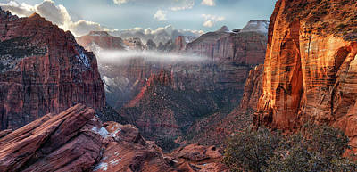 Winter Storm Photograph - Zion Canyon Grandeur by Leland D Howard
