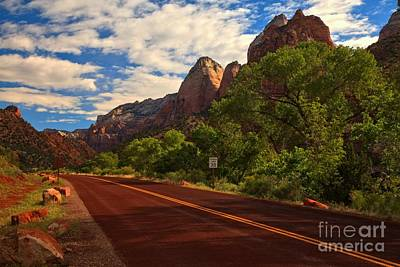 Photograph - Zion Canyon Road by Adam Jewell