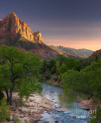 Photograph - Zion Canyon Sunset by Peter Kennett