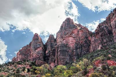 Photograph - Zion Canyon Terrain by John M Bailey