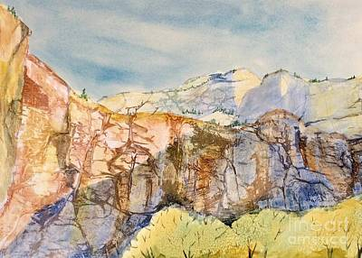 Painting - Zion Cliffs by Barbara Tibbets
