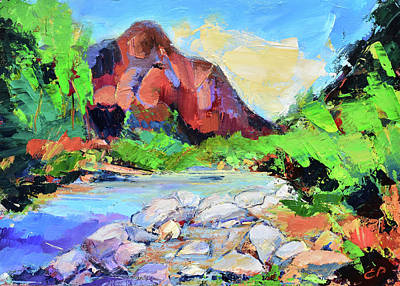 Painting - Zion Colors by Elise Palmigiani
