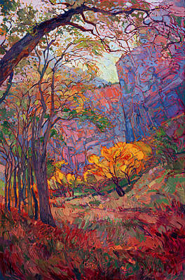 Zion National Park Painting - Zion Deep by Erin Hanson