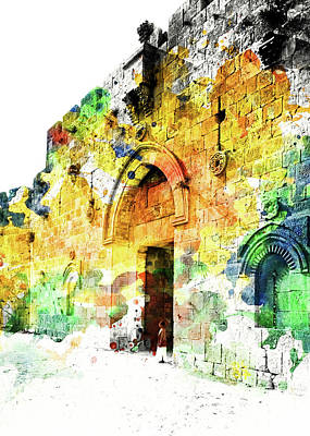 Painting - Zion Gate by Munir Alawi