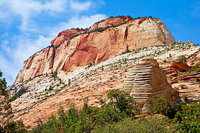 Photograph - Zion Hike 1 View 2 by Robert Meyers-Lussier