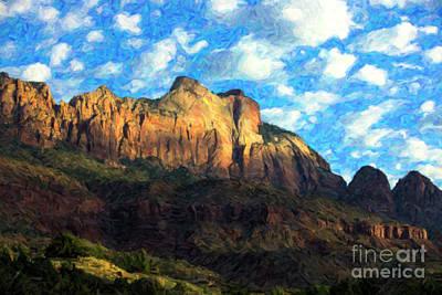 Photograph - Zion Landscape by Diane Diederich