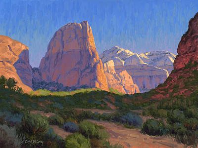 Usa Painting - Zion Light Show by Cody DeLong