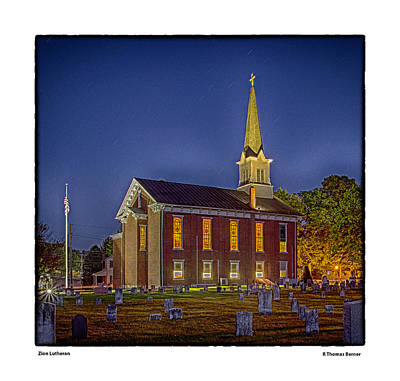 Photograph - Zion Lutheran by R Thomas Berner