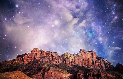 Zion National Park Digital Art - Zion Magic by Pete Mecozzi