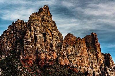 Zion Mountains 2c Art Print by Don Risi