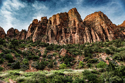 Zion Mountains 3c Art Print by Don Risi