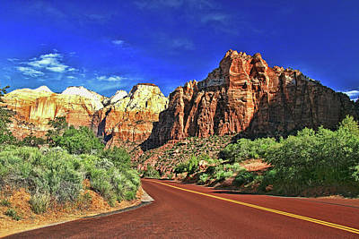 Photograph - Zion N P # 13  - Zion Scenic Drive by Allen Beatty