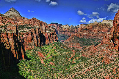 Photograph - Zion N P # 30 - Canyon Overlook by Allen Beatty