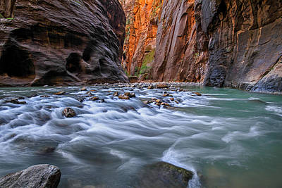 Photograph - Zion Narrows by Wesley Aston