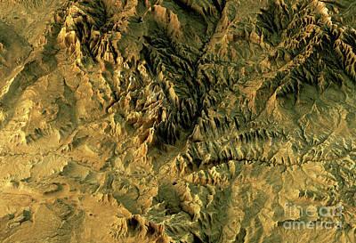 Cartography Digital Art - Zion National Park 3d Landscape View Natural Color by Frank Ramspott