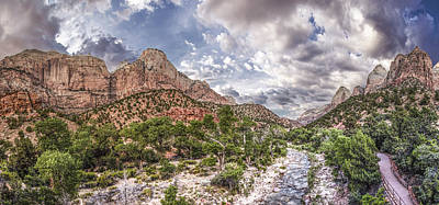 Photograph - Zion National Park At Sunset Looking East by John McGraw