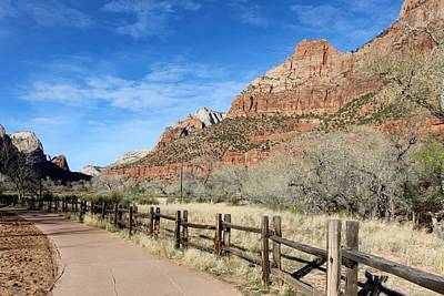 Photograph - Zion National Park Bike Path  by Christy Pooschke