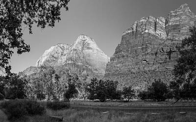 Photograph - Zion National Park Black And White 2 by John McGraw