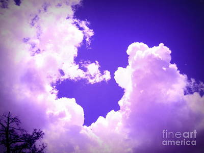 Photograph - Zion National Park Heart Cloud by Marlene Rose Besso