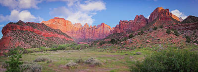 Photograph - Zion National Park - Towers Of The Virgin Panorama by Gregory Ballos