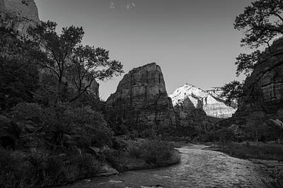 Photograph - Zion National Park Utah II Bw by David Gordon