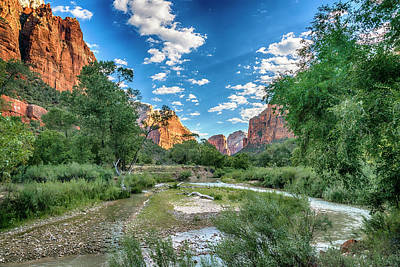 Photograph - Zion Np Canyon And Virgin River-7r2_dsc0897_08092017 by Greg Kluempers