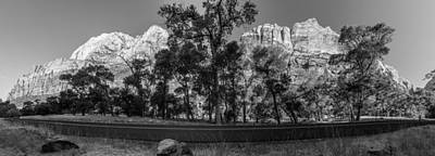 Photograph - Zion Pano With Road by John McGraw