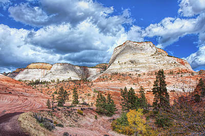 Photograph - Zion  Promontories by John M Bailey