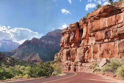 Photograph - Zion Scenic Drive by John M Bailey