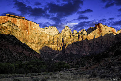 Photograph - Zion Sunrise by Fran Gallogly
