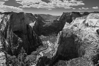 Zion Valley From Observation Point Art Print by Steven Wilson