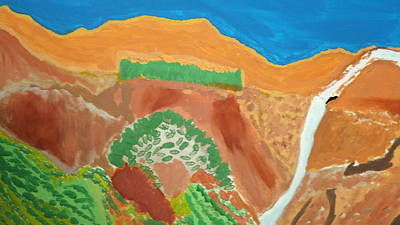 Zion National Park Mixed Media - Zion Waterfall  Top by Don Koester