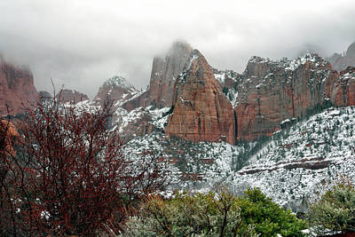 Zion Winter Skyline Art Print