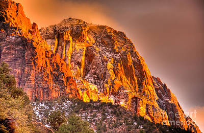 Zion's Fire I Art Print by Irene Abdou