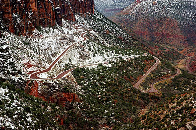 Photograph - Zion's Winding Road by Daniel Woodrum