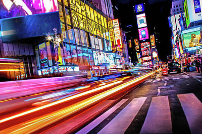 Times Square Photograph - Zip by Az Jackson