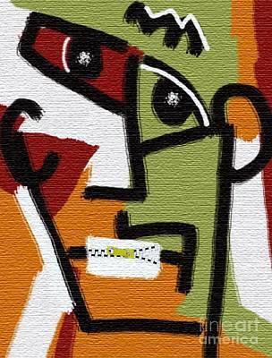 Zipper Painting - Zip  It  Up by Mimo Krouzian