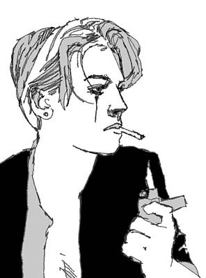 Androgyny Drawing - Zippo by H James Hoff